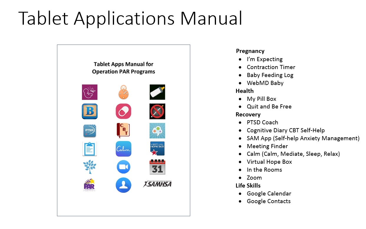 Tablet Applications Manual